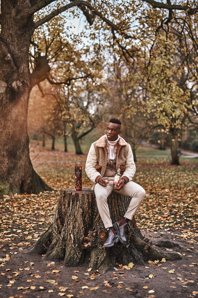 Hannah Miles Menswear and Content Photographer Solomon for Cardu Whisky